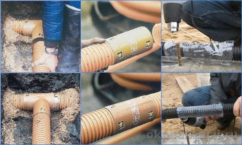 монтаж пластиковых труб для дренажа