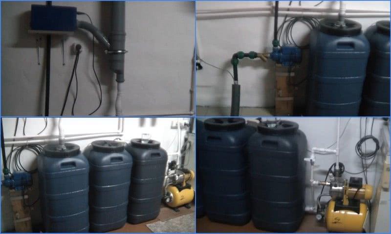самодельная аэрационная установка обезжелезивания воды