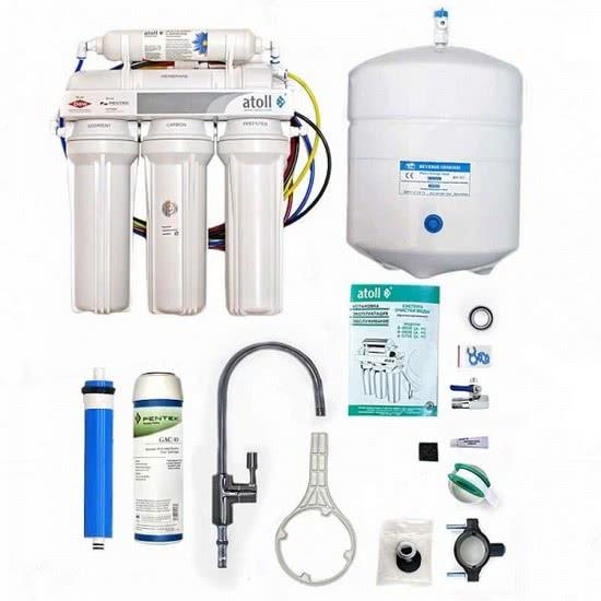 как установить фильтр для воды под мойку