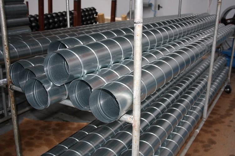 Металлические трубы подходят для бытовых и промышленных систем воздухообеспечения