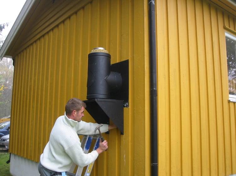 Чтобы упростить установку вентиляционного канала с теплоизоляцией, можно применить сендвич-трубу
