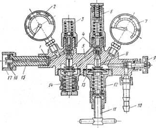 Двухступенчатый кислородный редуктор 2-КВД