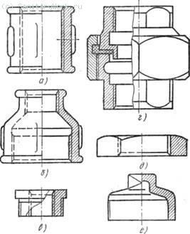 Соединительные части из ковкого чугуна для соединения труб по прямой