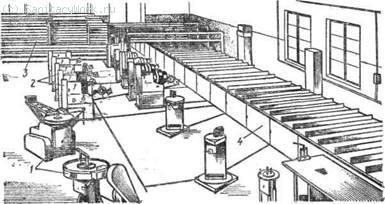 Цех для заготовки узлов санитарно-технических систем
