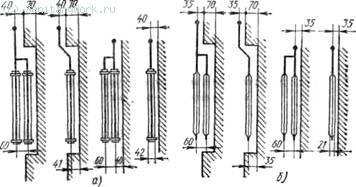 Схемы монтажных положений стальных панельных радиаторов