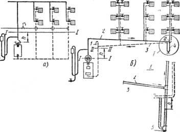 Схемы систем парового отопления низкого давления