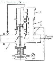 Схема блочного регулятора температуры для открытых систем теплоснабжения