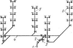 Схема водопроводной сети без повысительного насоса