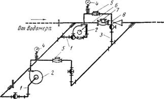 Схема повысительной насосной установки