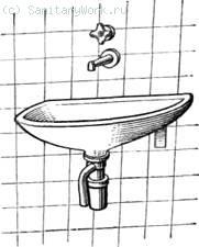 Овальный керамический рукомойник Стальные эмалированные раковины с отъемной спинкой  215) устанавливают в жилых и общественных зданиях. Раковины выпускают двух типов